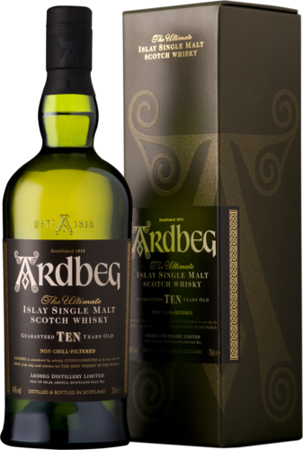 "Ardbeg Islay ""The Ultimate"" Single Malt Scotch 10yo (in Geschenk-Packung)"